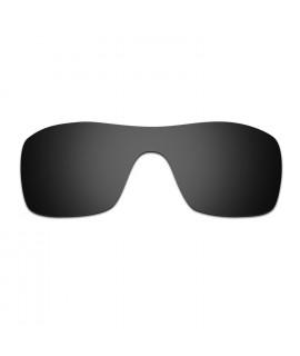 HKUCO Black/24K Gold Polarized Replacement Lenses and White Earsocks Rubber Kit For Oakley Romeo 1 Sunglasses mkMjS