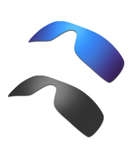 New HKUCO Blue+Black Polarized Replacement Lenses for Oakley Batwolf Sunglasses