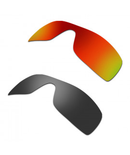 New HKUCO Red+Black Polarized Replacement Lenses for Oakley Batwolf Sunglasses