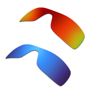 New HKUCO Red+Blue Polarized Replacement Lenses for Oakley Batwolf Sunglasses