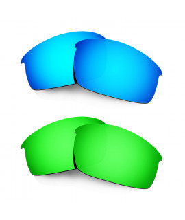Hkuco Mens Replacement Lenses For Oakley Bottlecap Blue/Green Sunglasses
