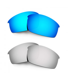 Hkuco Mens Replacement Lenses For Oakley Bottlecap Blue/Titanium Sunglasses