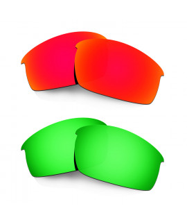 Hkuco Mens Replacement Lenses For Oakley Bottlecap Red/Emerald Green Sunglasses