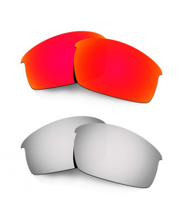 Hkuco Mens Replacement Lenses For Oakley Bottlecap Red/Titanium Sunglasses