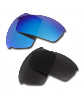 HKUCO Blue+Black  Polarized Replacement Lenses for Oakley Bottlecap Sunglasses