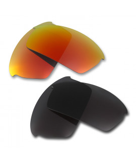 HKUCO Red+Black Polarized Replacement Lenses for Oakley Bottlecap Sunglasses