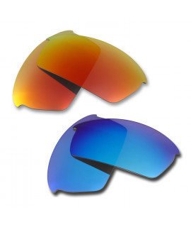HKUCO Red+Blue  Polarized Replacement Lenses for Oakley Bottlecap Sunglasses