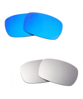Hkuco Mens Replacement Lenses For Oakley Crankcase Blue/Titanium Sunglasses