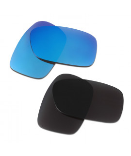 HKUCO Blue+Black  Polarized Replacement Lenses for Oakley Crankcase Sunglasses