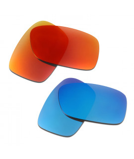 HKUCO Red+Blue  Polarized Replacement Lenses for Oakley Crankcase Sunglasses