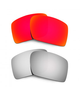 Hkuco Mens Replacement Lenses For Oakley Eyepatch 2 Red/Titanium Sunglasses