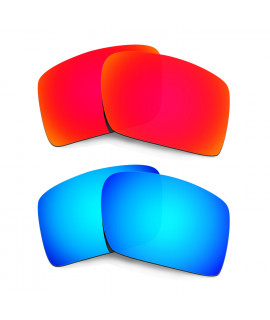HKUCO Red+Blue  Polarized Replacement Lenses for Oakley Eyepatch 2 Sunglasses
