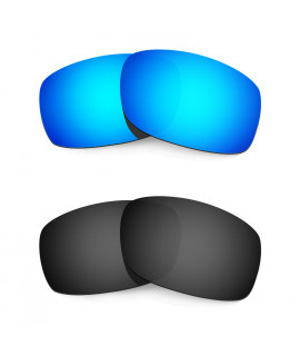 HKUCO Blue+Black Polarized Replacement Lenses for Oakley Fives Squared Sunglasses
