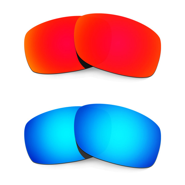 HKUCO Red+Blue Polarized Replacement Lenses for Oakley Fives Squared Sunglasses