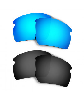 HKUCO Blue+Black Polarized Replacement Lenses for Oakley Flak 2.0 XL Sunglasses