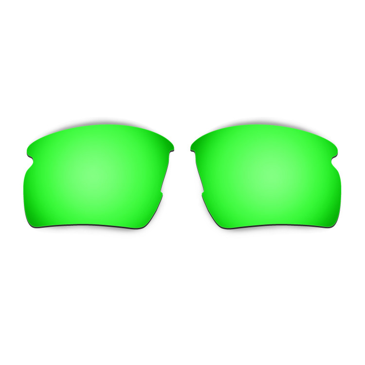 HKUCO Mens Replacement Lenses For Oakley Flak 2.0 Red/Titanium/Emerald Green Sunglasses aYsPaH724q