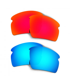 HKUCO Red+Blue Polarized Replacement Lenses for Oakley Flak 2.0 XL Sunglasses