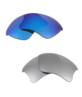 HKUCO Blue+Titanium Polarized Replacement Lenses for Oakley Flak Jacket XLJ Sunglasses