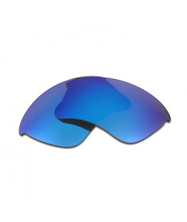 HKUCO Blue Polarized Replacement Lenses and White Earsocks Rubber Kit For Oakley Flak Jacket Sunglasses aF6NBHwJlj