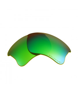 HKUCO Emerald Green Polarized Replacement Lenses for Oakley Flak Jacket XLJ Sunglasses