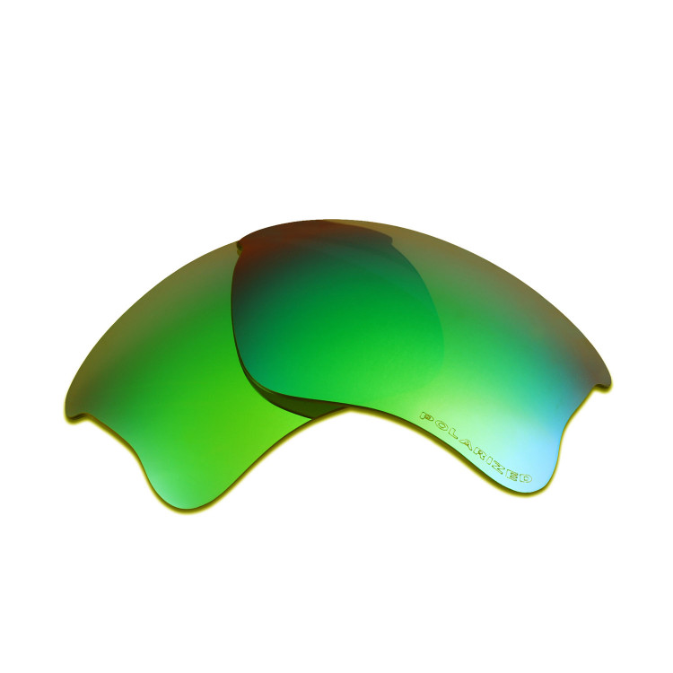 ec61e1bccd8 HKUCO Emerald Green Polarized Replacement Lenses for Oakley Flak Jacket XLJ  Sunglasses