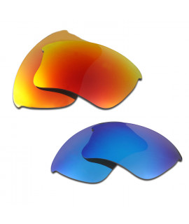 HKUCO Red+Blue Polarized Replacement Lenses for Oakley Flak Jacket XLJ Sunglasses