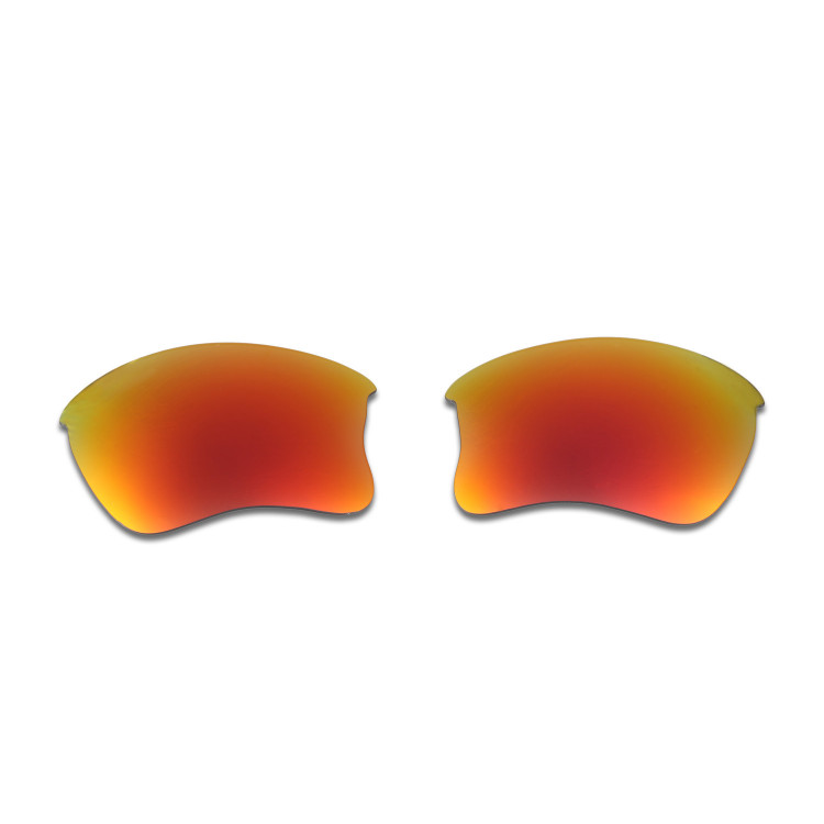 f44801abd7e HKUCO Red+Emerald Green Polarized Replacement Lenses for Oakley Flak Jacket  XLJ Sunglasses
