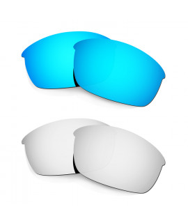 Hkuco Mens Replacement Lenses For Oakley Flak Jacket Blue/Titanium Sunglasses