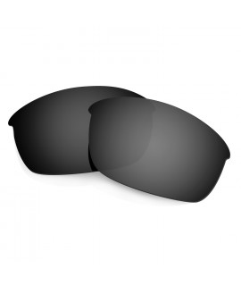 HKUCO Black Polarized Replacement Lenses for Oakley Flak Jacket Sunglasses