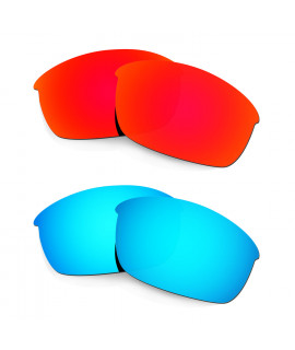 HKUCO Red+Blue Polarized Replacement Lenses for Oakley Flak Jacket Sunglasses