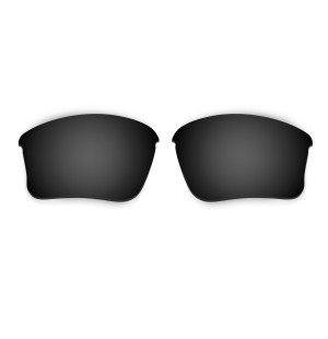 HKUCO Black Polarized Replacement Lenses for Oakley Flak Jacket XLJ (Asian Fit) Sunglasses