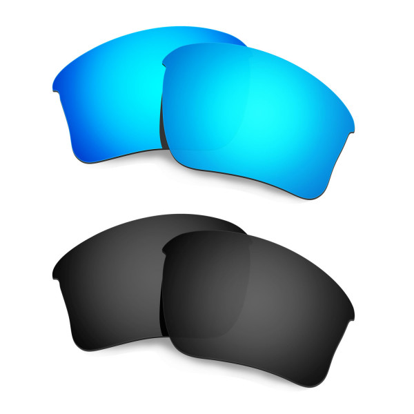 New HKUCO Blue+Black Polarized Replacement Lenses for Oakley Flak Jacket XLJ (Asian Fit) Sunglasses