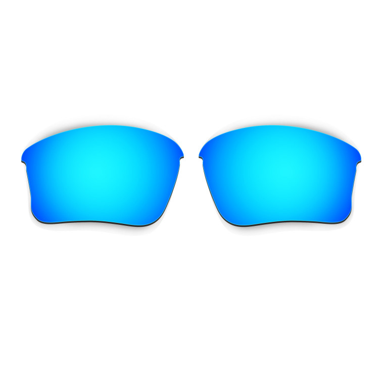 blue oakley glasses g8qm  HKUCO Blue Polarized Replacement Lenses for Oakley Flak Jacket XLJ Asian  Fit Sunglasses