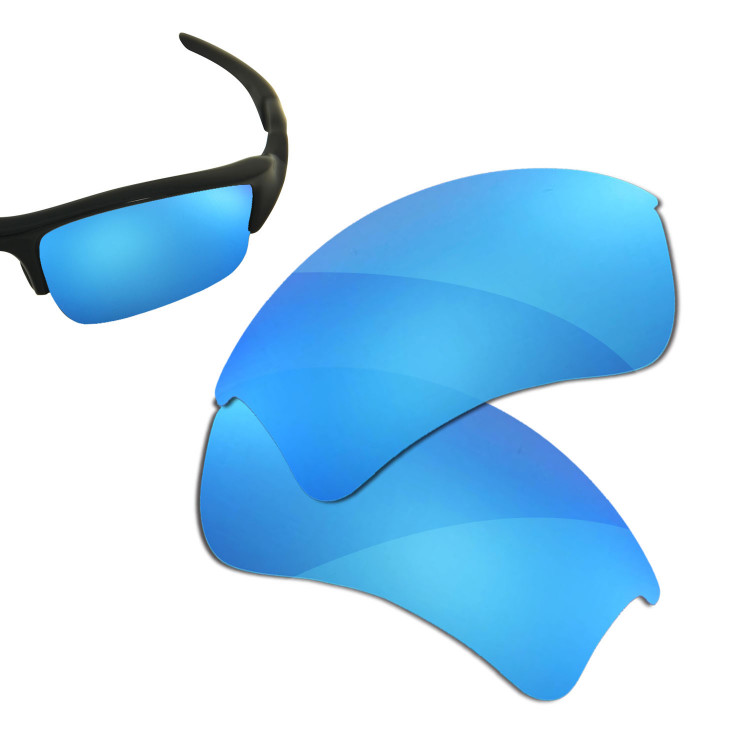 blue oakley glasses dl4w  HKUCO Blue Polarized Replacement Lenses for Oakley Flak Jacket XLJ Asian  Fit Sunglasses