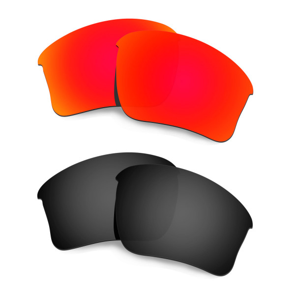 New HKUCO Red+Black Polarized Replacement Lenses for Oakley Flak Jacket XLJ (Asian Fit) Sunglasses