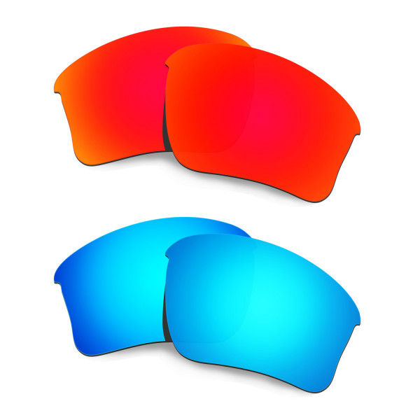 New HKUCO Red+Blue Polarized Replacement Lenses for Oakley Flak Jacket XLJ (Asian Fit) Sunglasses