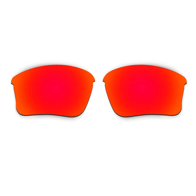 6439624337c HKUCO Red Polarized Replacement Lenses for Oakley Flak Jacket XLJ (Asian Fit)  Sunglasses