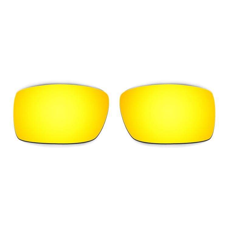 15a7a15b19 Hkuco Mens Replacement Lenses For Oakley Gascan Sunglasses 24K Gold  Polarized