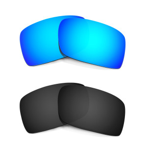 New HKUCO Blue+Black Polarized Replacement Lenses For Oakley Gascan Sunglasses