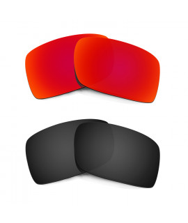 HKUCO Red+Black Polarized Replacement Lenses For Oakley Gascan Sunglasses