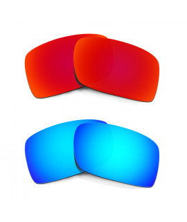 HKUCO Red+Blue Polarized Replacement Lenses For Oakley Gascan Sunglasses