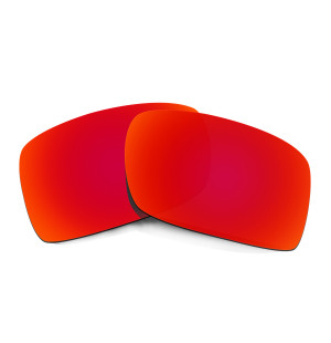 HKUCO Red Polarized Replacement Lenses For Oakley Gascan Sunglasses