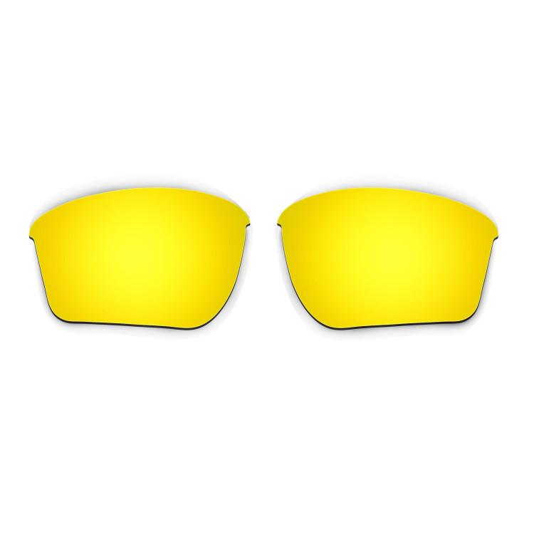 35ce67e7b0168 Hkuco Mens Replacement Lenses For Oakley Half Jacket 2.0 XL Sunglasses 24K  Gold Polarized