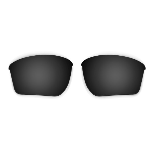 HKUCO Black Polarized Replacement Lenses For Oakley Half Jacket 2.0 XL Sunglasses