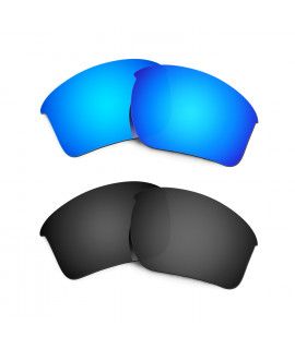 New HKUCO Blue+Black Polarized Replacement Lenses for Oakley Half Jacket 2.0 XL Sunglasses