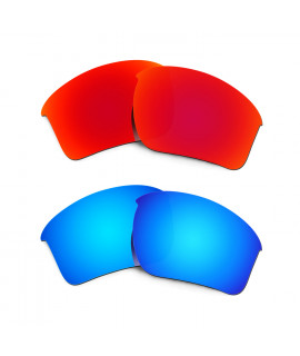 New HKUCO Red+Blue Polarized Replacement Lenses for Oakley Half Jacket 2.0 XL Sunglasses