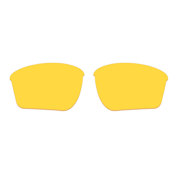 Hkuco Transparent Yellow Polarized Replacement Lenses For Oakley Half Jacket 2.0 XL Sunglasses