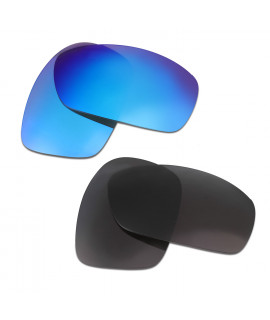 HKUCO Blue+Black Polarized Replacement Lenses for Oakley Hijinx Sunglasses