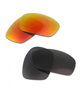 HKUCO Red+Black Polarized Replacement Lenses for Oakley Hijinx Sunglasses