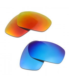 HKUCO Red+Blue Polarized Replacement Lenses for Oakley Hijinx Sunglasses
